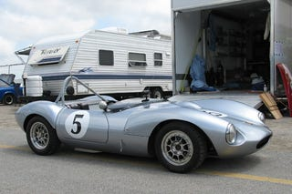 Not my car (1964 Ginetta G4 found on Google as a roundel example)