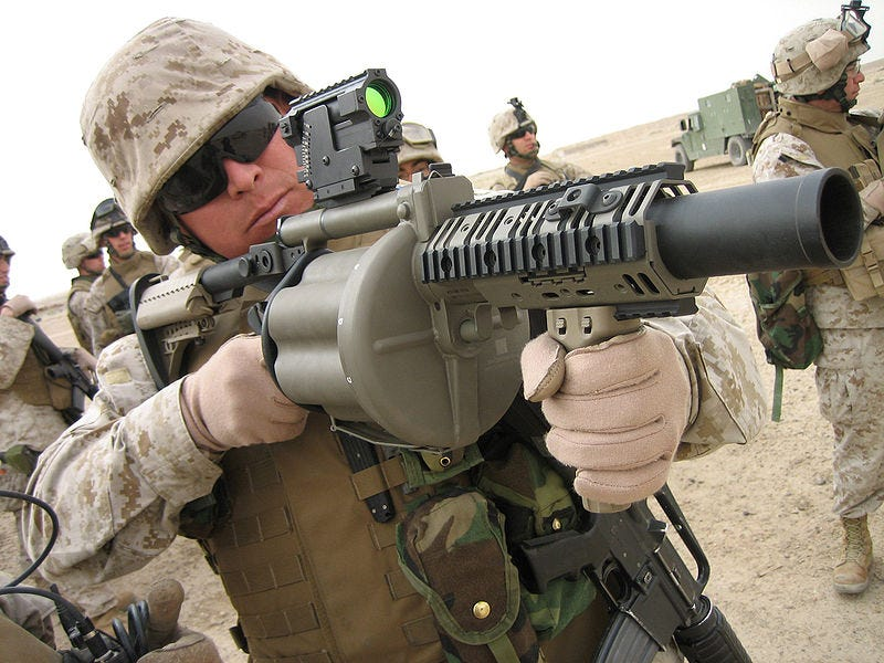 """Illustration for article titled MetalStorm 3GL Grenade Launcher Should Be Renamed to """"You-Gonna-Get-a-Sh*tstorm-of-Metal, Enemy Dude"""""""