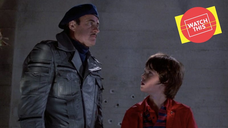Dabney Coleman and Henry Thomas in Cloak & Dagger