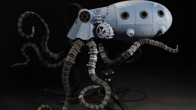 Illustration for article titled 3D-printed octopus cyborg is art from the future