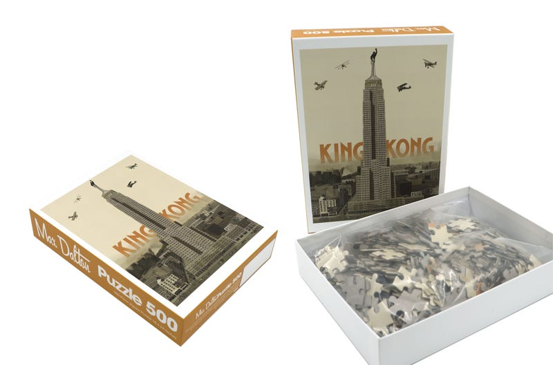 A unique 500-piece King Kong jigsaw puzzle by artist Max Dalton. All Images: Spoke Art