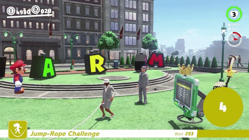 Super Mario Odyssey Players Use Glitch To Break Jump-Rope Challenge Leaderboard