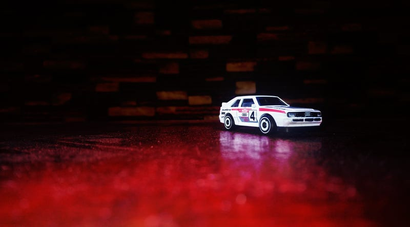 Illustration for article titled Ringe der Vorherrschaft   Hot Wheels 1984 Audi Sport Quattro   Inspection Room