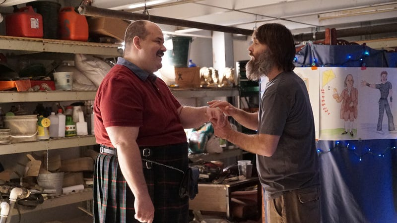 Mel Rodriguez and Will Forte in The Last Man On Earth