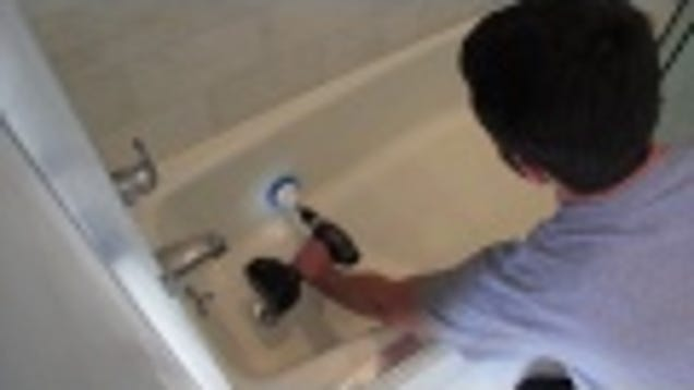 Scrub Your Bathtub And Shower In Minutes With A Cordless Drill