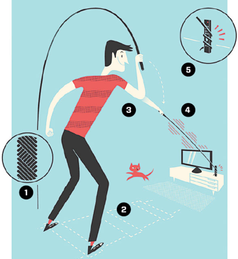 Illustration for article titled Learn to Snag Stuff with a Whip