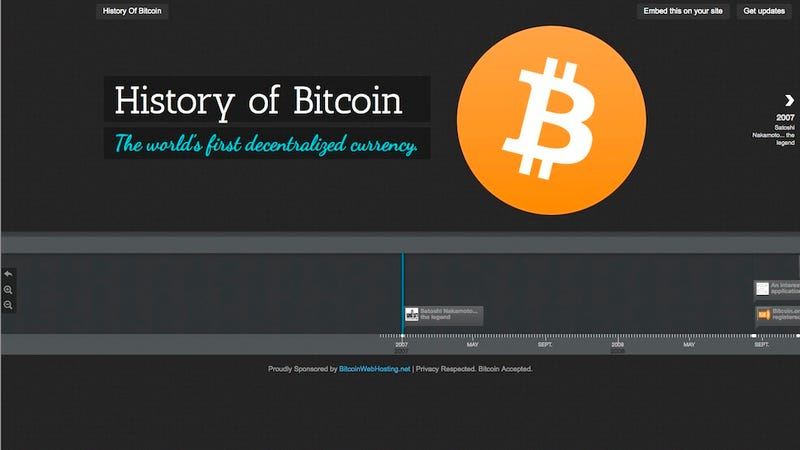 Illustration for article titled This Interactive History of Bitcoin Is a Crash Course for the Masses