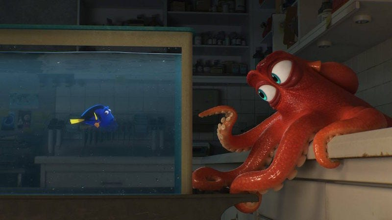 Illustration for article titled Hank Is Frustration Come to Life in an Adorable Deleted Scene From Finding Dory