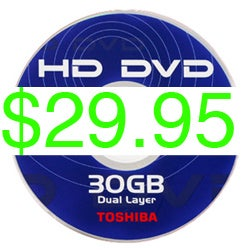 Illustration for article titled Universal Cutting Prices of HD DVD Titles From $34.95 To $29.95