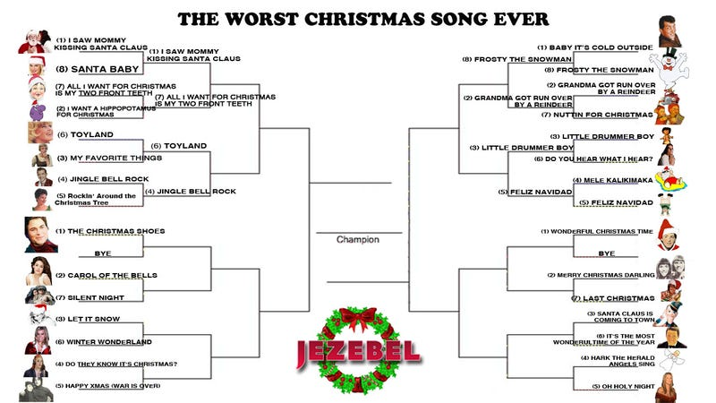 Illustration for article titled December Madness:  More Terrible Christmas Songs Vie For The Title of Worst Ever