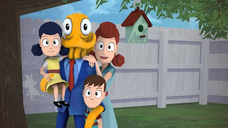 Illustration for article titled Octodad: Dadliest Catch is a slapstick stealth mollusk fatherhood simulator