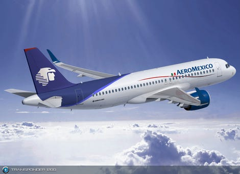 """Airbus said that """"it was certain"""" Aeromexico had picked all of the optional extras in the A320, including double coating."""