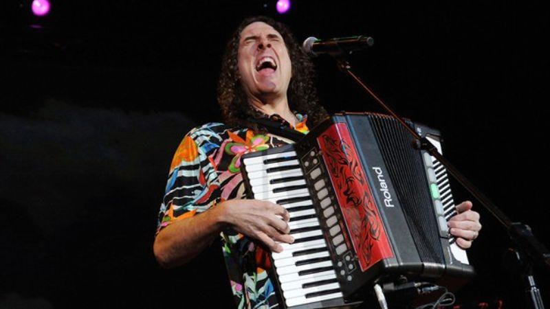 """Illustration for article titled """"Weird Al"""" Yankovic posted a picture of himself with a dead hooker"""
