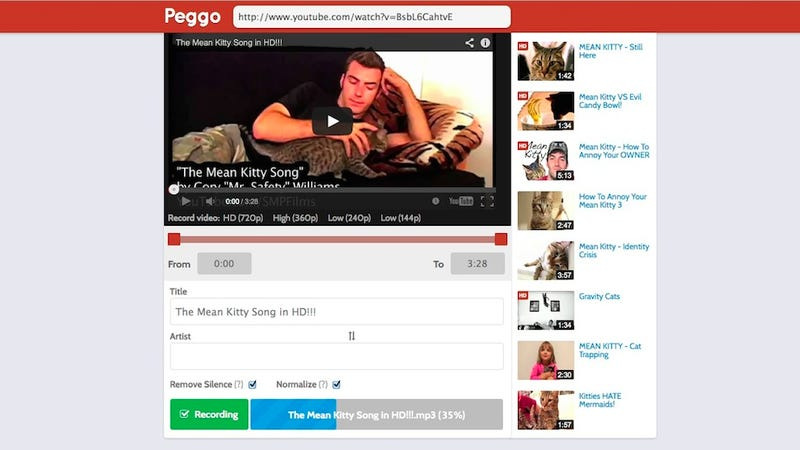 Illustration for article titled Peggo Converts YouTube Videos to Audio for Offline Listening
