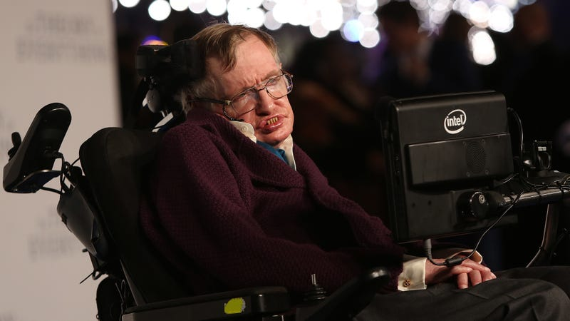 Stephen Hawking in 2014, at the premiere for the movie The Theory of Everything.