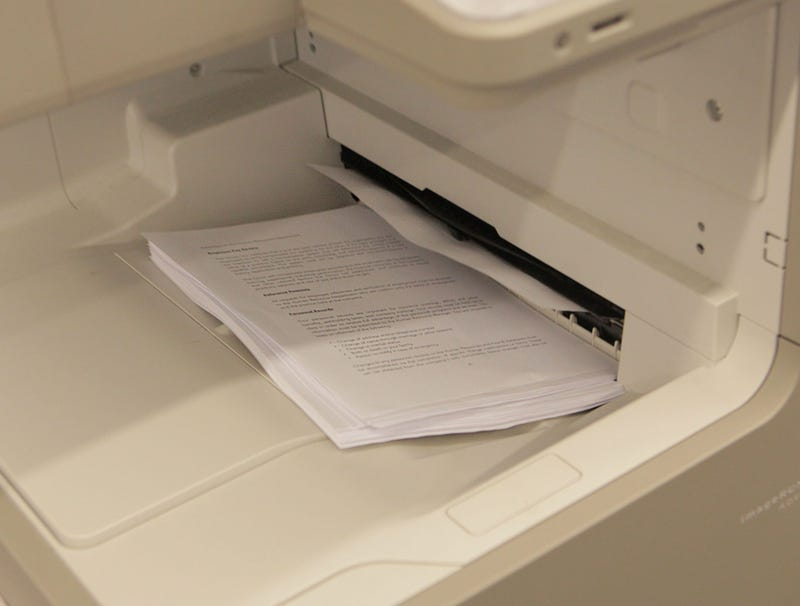 Single Document Engulfed In Coworker's 50-Page Printout