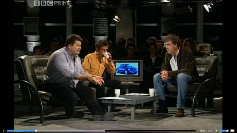 i 39 m watching an old episode of top gear. Black Bedroom Furniture Sets. Home Design Ideas
