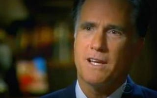 Mitt Romney on 60 Minutes (CBS)