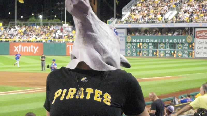 Illustration for article titled Unicorn Mask-Wearing Porn Star Kicked Out Of PNC Park For Sexy Dancing