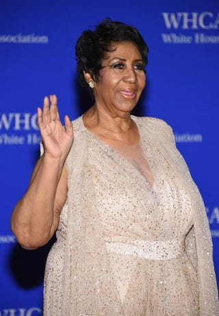 Aretha Franklin attends the 102nd White House Correspondents' Association dinner April 30, 2016, in Washington, D.C.Larry Busacca/Getty Images