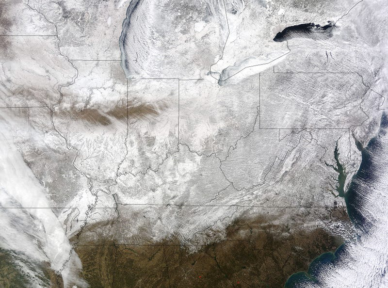 Illustration for article titled NASA satellite image shows record-breaking frozen Eastern US