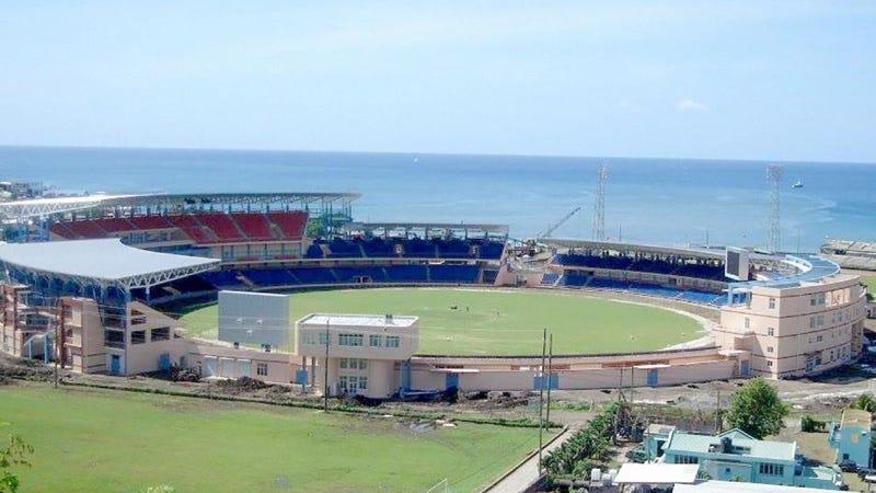 El estadio Queens Park, en Granada, con capacidad para 20.000 personas y financiado con fondos chinos. Imagen: Fútbol PR/Facebook