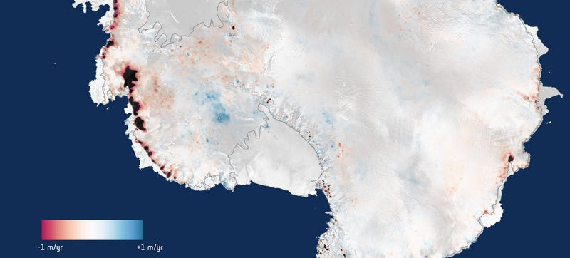 Illustration for article titled Look at Where Antarctica Is Losing Ice Faster Than Ever