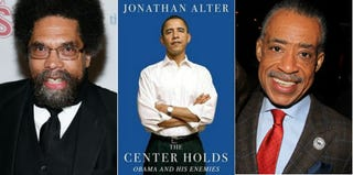 Cornel West (John Lamparski/WireImage); The Center Holds (Simon & Schuster); Al Sharpton (Bruce Glikas/FilmMagic)