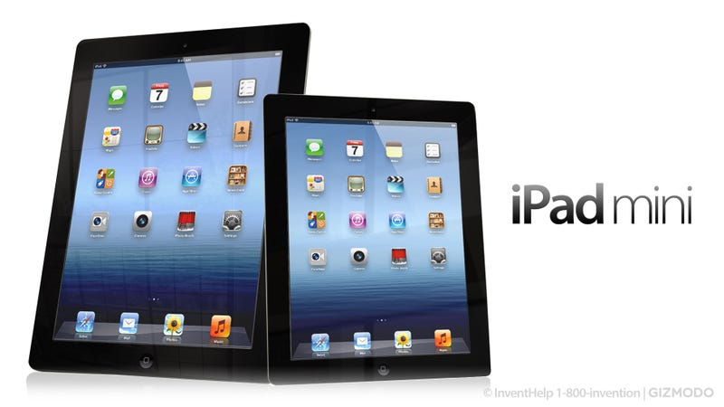 Illustration for article titled This Is How the iPad Mini Might Look Next to the iPad