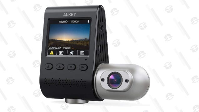 Aukey s Dual Dash Cam Gives Your Car Front and Rear Eyes, and It s Only $65
