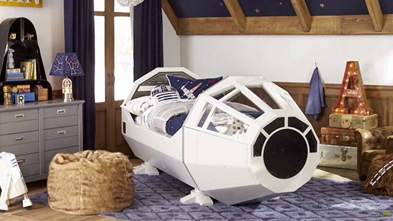 Illustration for article titled Pottery Barn Is Making This Sweet Millennium Falcon Bed, But Only For Kids