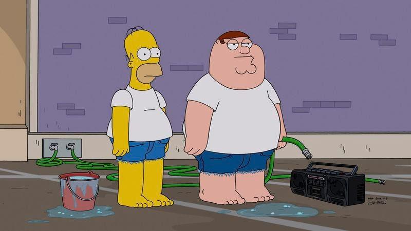 Illustration for article titled We're live-chatting the Simpsons/Family Guy crossover