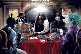 Illustration for article titled The Killing Bluff: Alan Moore plays poker with a few comic book friends