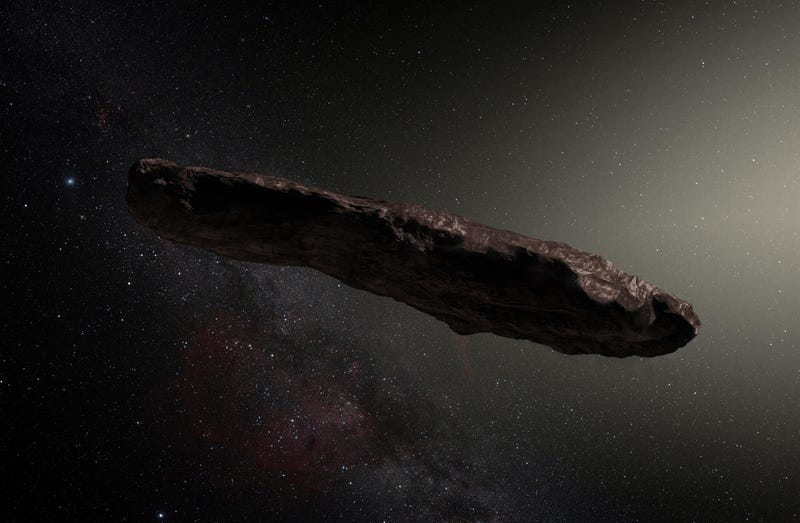 Illustration for article titled Científicos parecen haber resuelto el origen del misterioso asteroide interestelar Oumuamua