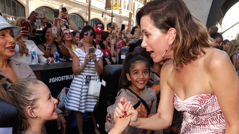 Image result for ghostbusters premiere with little girls
