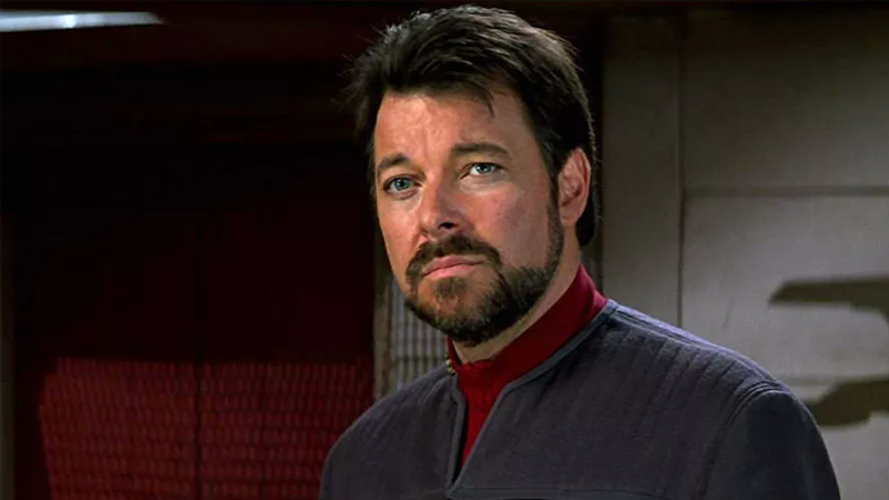 Riker aboard the Enterprise once more in Star Trek: First Contact.