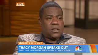 "Tracy Morgan spoke June 1, 2015, with NBC's Today show about the accident in 2014 that took the life of his friend James ""Jimmy Mac"" McNair. NBC Today screenshot"