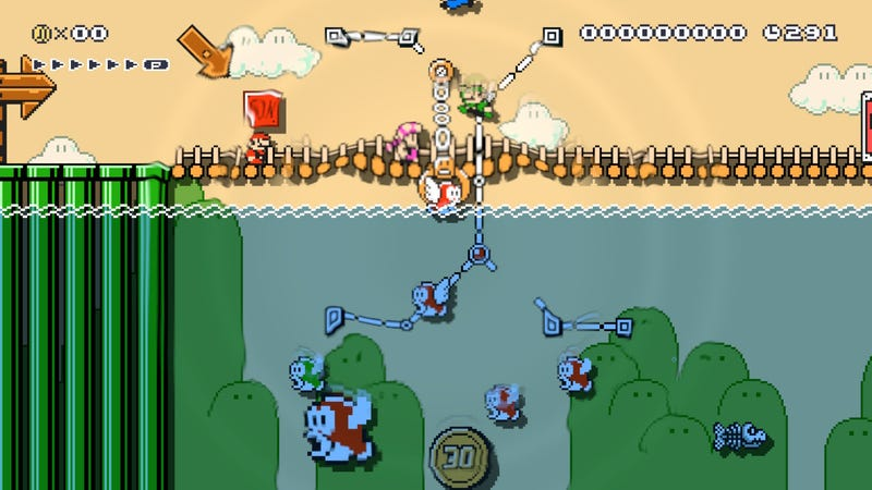 Illustration for article titled Mario Maker 2 Online Multiplayer Is Laggy, Too Basic, And Tons Of Fun