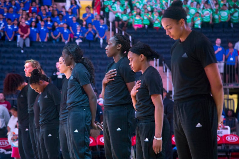 c8445774fb3d Illustration for article titled WNBA Players Continue Protests Despite  Fines