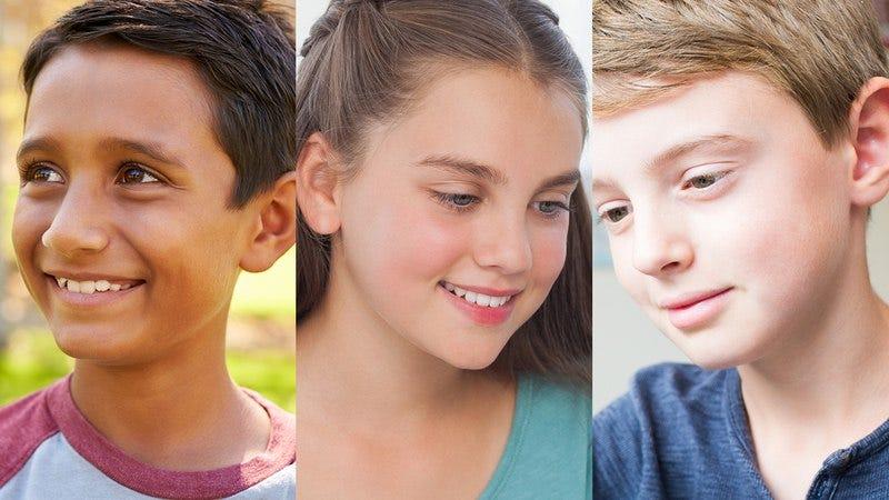 Three young children.