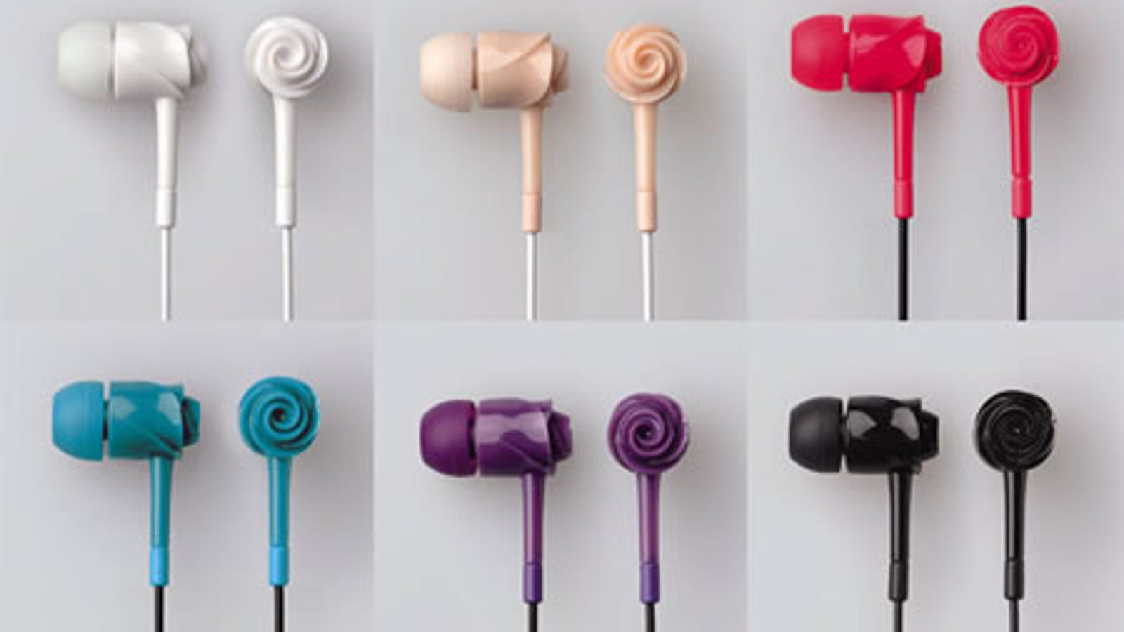 Elecom Rose EarDrops Phones: Rosebuds for Your Ears