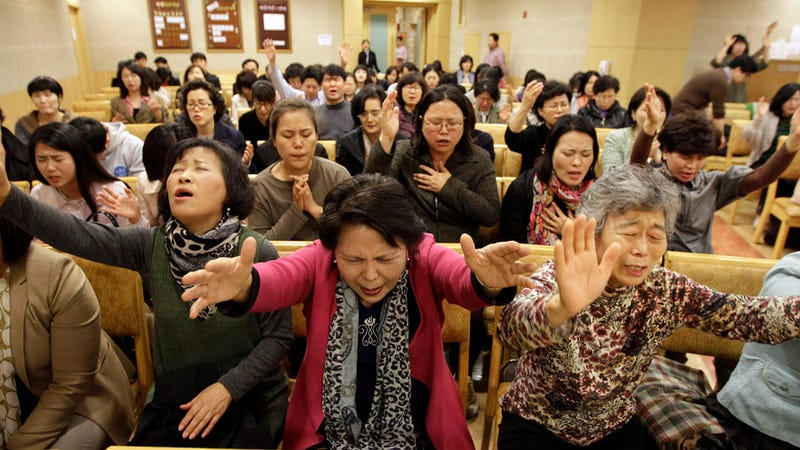 Illustration for article titled A Group of South Koreans Begs God to Strike Down Evil Lady Gaga