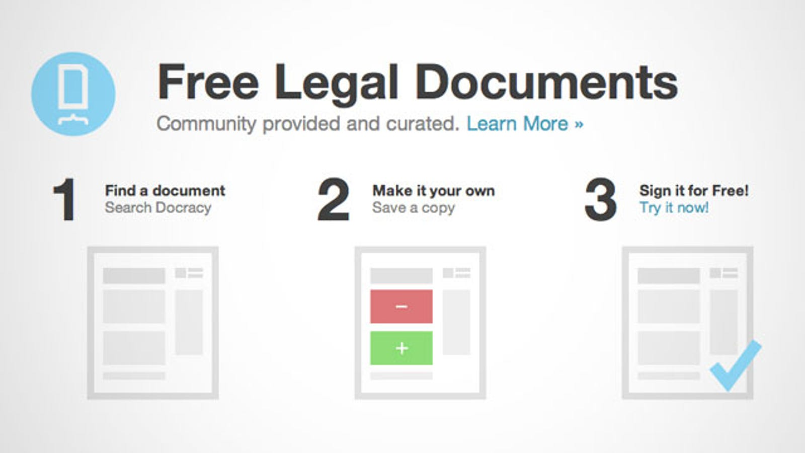 Docracy Provides Free Legal Documents For Many Common Situations - Find legal documents