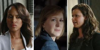 "Screenshots of characters Olivia Pope, Mary Nesbitt and Quinn Perkins from ""Mrs. Smith Goes to Washington"" episode"