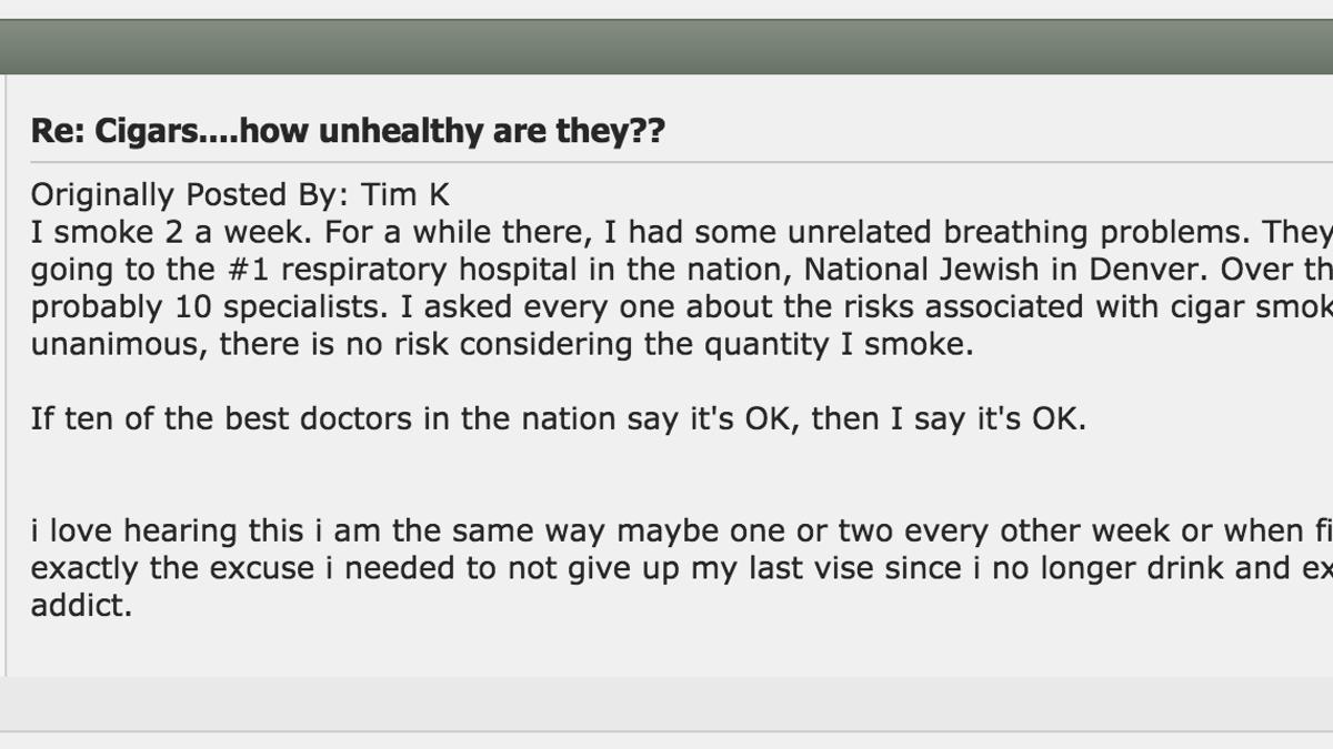 Cigar message boards