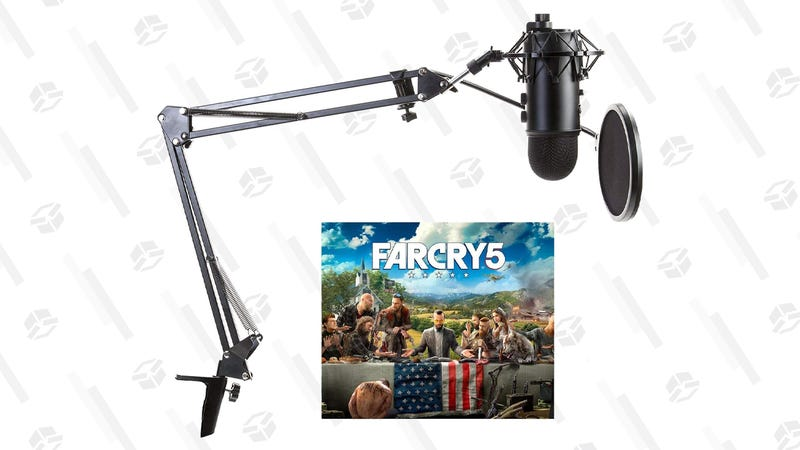Blue Yeti Microphone Far Cry 5 Bundle w/ Studio Stand, Shock Mount & Pop Filter | $95 Focus Camera | Use the code BLUE