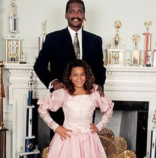 Mathew Knowles and a young BeyoncéBeyonce.com screenshot