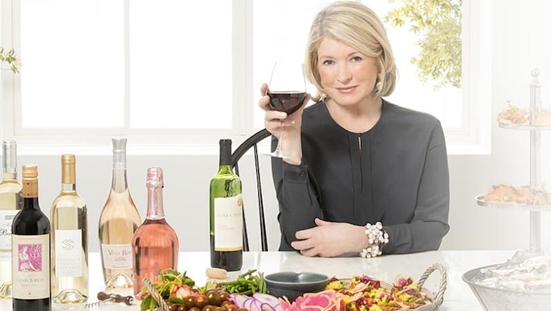 Screenshot via Martha Stewart Wine Co