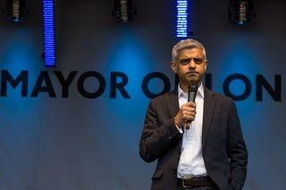 London Mayor Sadiq Khan (David Nash/Barcroft Images/Barcroft Media via Getty Images)