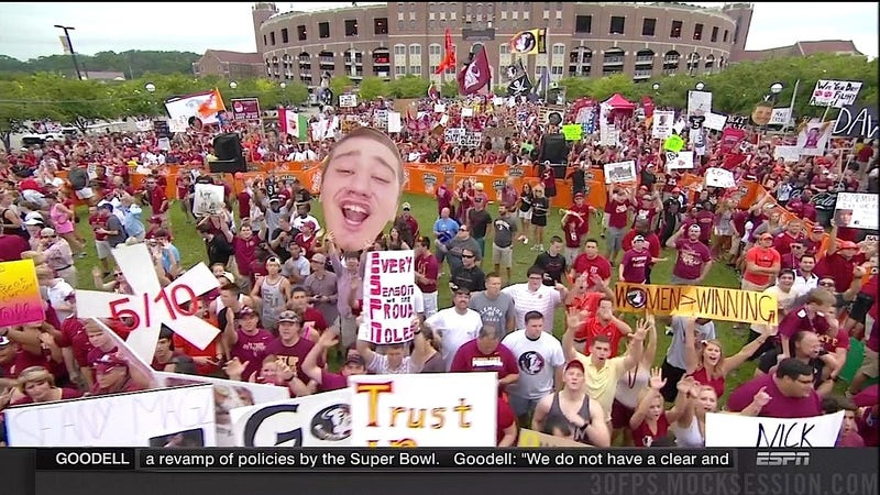 Illustration for article titled Women > Winning: Your FSU-Clemson GameDay Sign Roundup